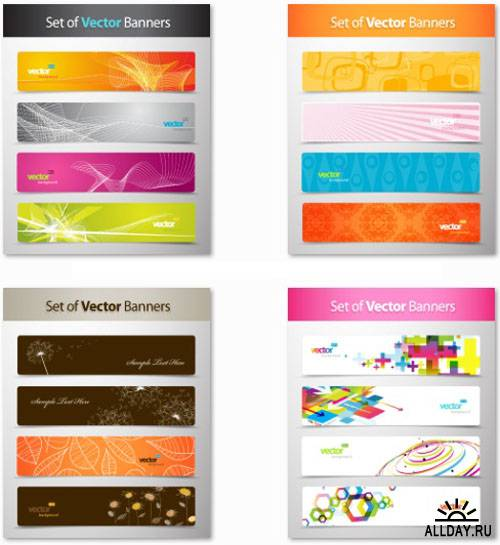 Creative Vector Banners and Cards