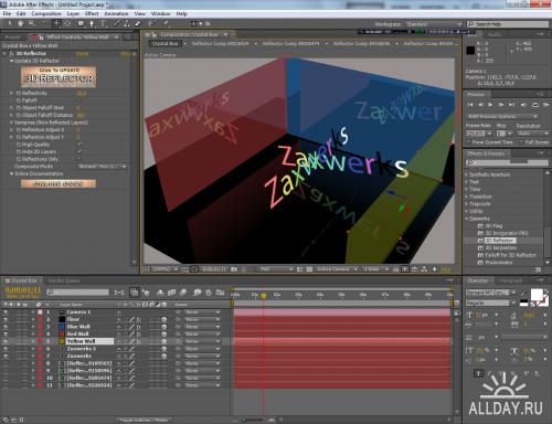 Zaxwerks 3D Reflector 2.0.2 for After Effects (2011/ENG/x86/x64)