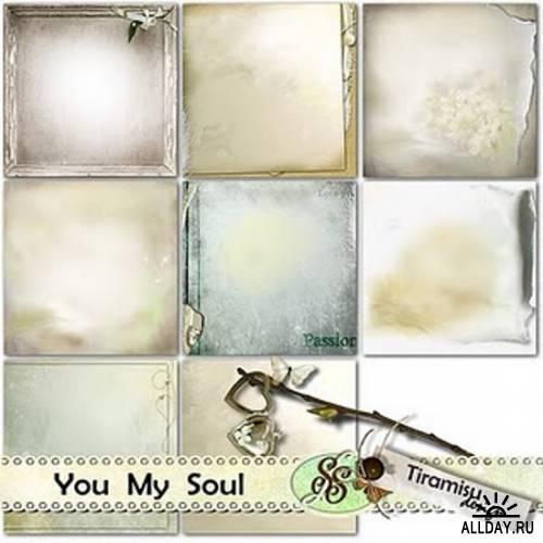Скрап-набор You My Soul + 4 готовые скрап странички