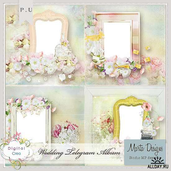 Scrap set - Wedding telegram