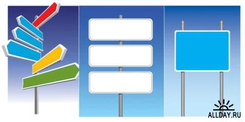 Cartoon signs to mark - vector
