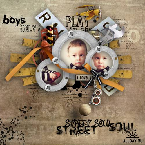 Scrap kit   Boys Only!