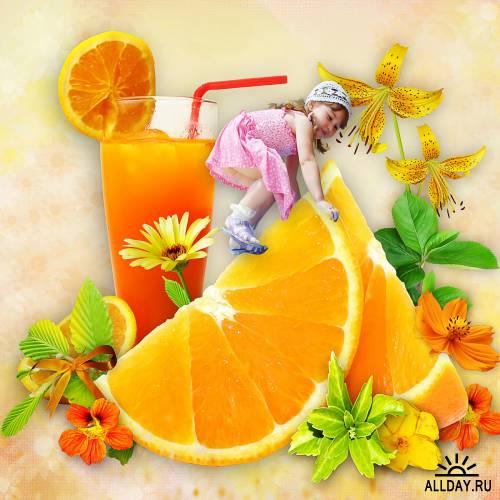 Скрап-набор Orangeade