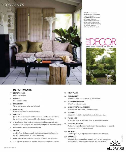 ELLE Decor №5 (май 2012) / US