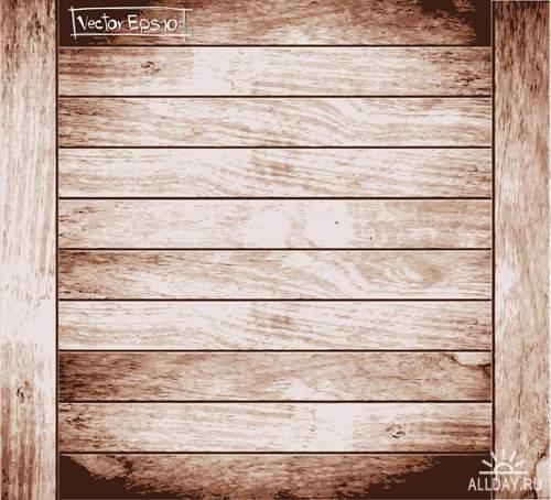 Текстура дерева - Векторный клипарт   Wooden textures - Stock Vectors