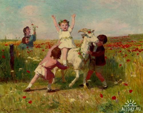 Картины западных художников маслом. Часть 78