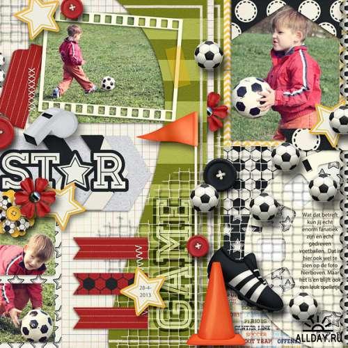 Скрап-набор Sporty Soccer и FIFA WORLD CUP Bonus