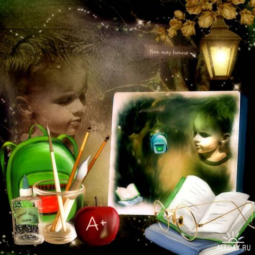 Scrap kit School Kid