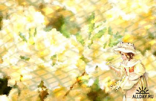 Backgrounds Kit - Dreamlike classical romance \ Набор фонов - сказочные, романтические, классические