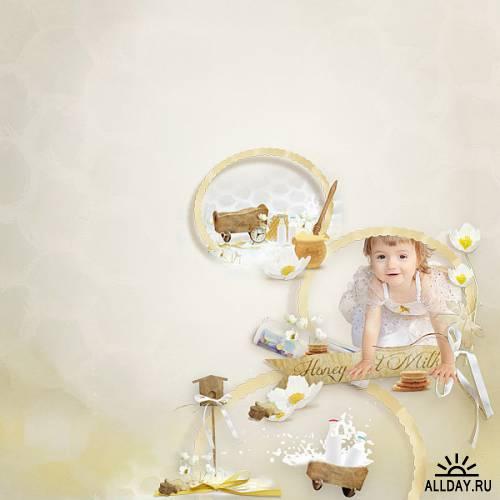 Scrap kit  Honey And Milk