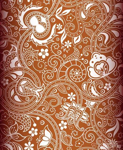 Декоративные фоны - Векторный клипарт   Ornamental backgrounds - Stock Vectors