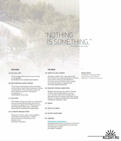 Landscape Architecture №9 (сентябрь 2011) / US