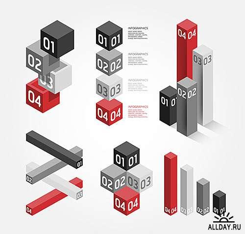Современный шаблон для бизнеса 13, Инфографика - векторный клипарт