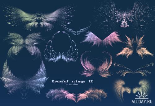 3 набора фрактальных крыльев / Fractal wings