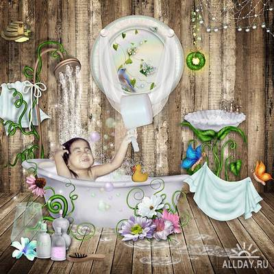 Scrap kit Magic Bath Time