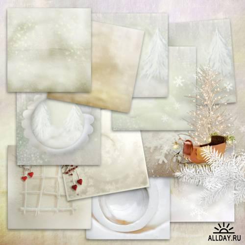 Scrap kit  Blanc Comme Neige