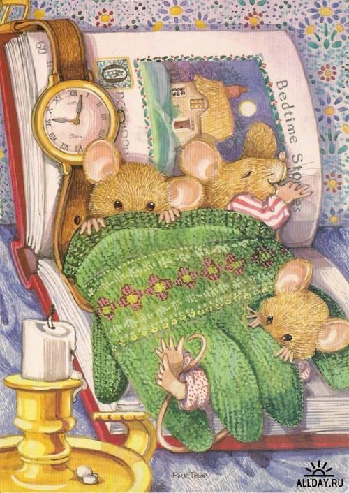 Открытки с рисованными животными. Часть 4