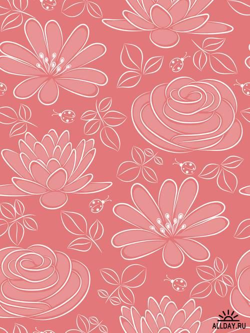 Цветочные паттерны в векторе | Flower pattern - Stock Vectors