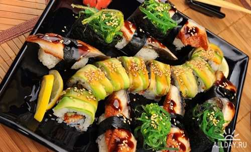 Japanese food and sushi Stock images set #1 - 25 HQ Jpg