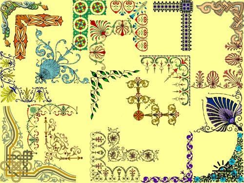 Уголки для украшения рамок, поздравительных открыток