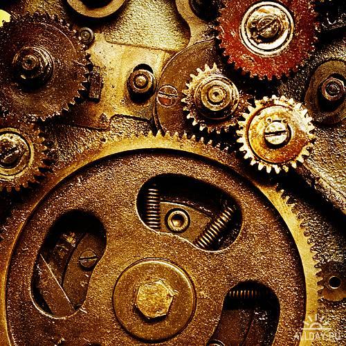 UHQ Stock Photo - Gears from old mechanism   Шестеренки старых механизиов