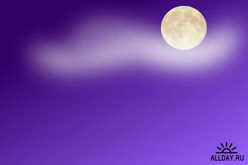Backgrounds for children - night sky, moon and stars | Фоны для детей - ночое небо, луна и звезды