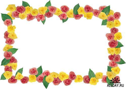 Floral Frame - cutouts 5 | Рамки - вырезы с цветами и листьями 5