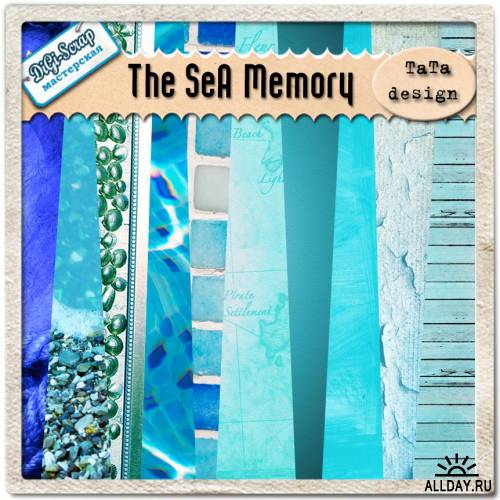 Скрап - набор The sea memory
