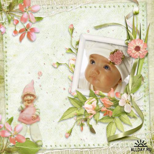 Scrap kit  Peach Faced Lovebird