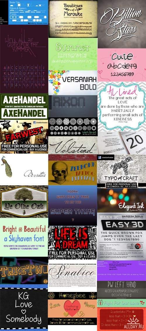 Сборник шрифтов ( часть8) / Collection of fonts ( Part 8 )