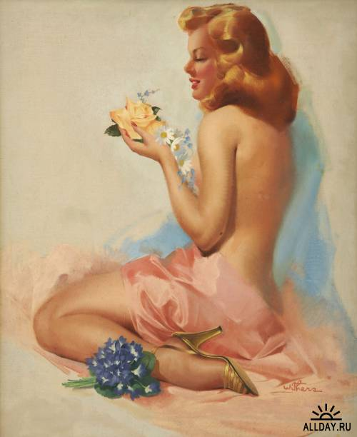 Pin-up Art by Ted Withers (1896 - 1964)