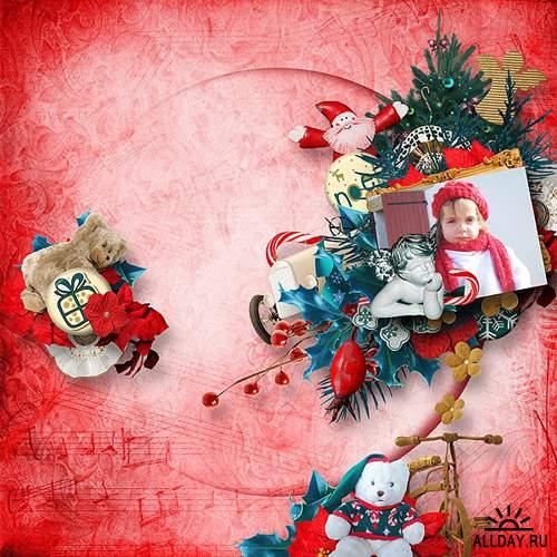 2 рождественских скрап-набора