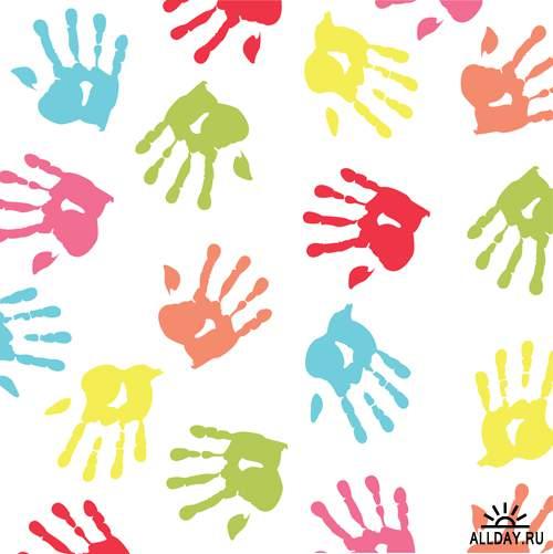 Фоны детского дизайна - Векторный клипарт | Background for kids - Stock Vectors