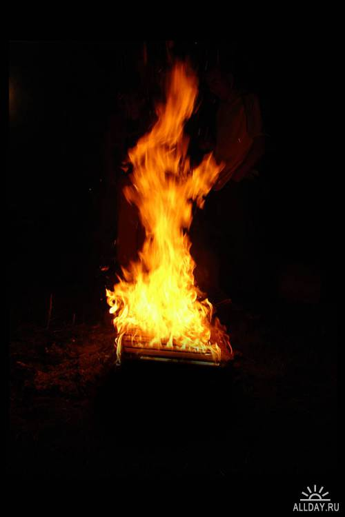 Огненные взрывы и эффекты в PSD