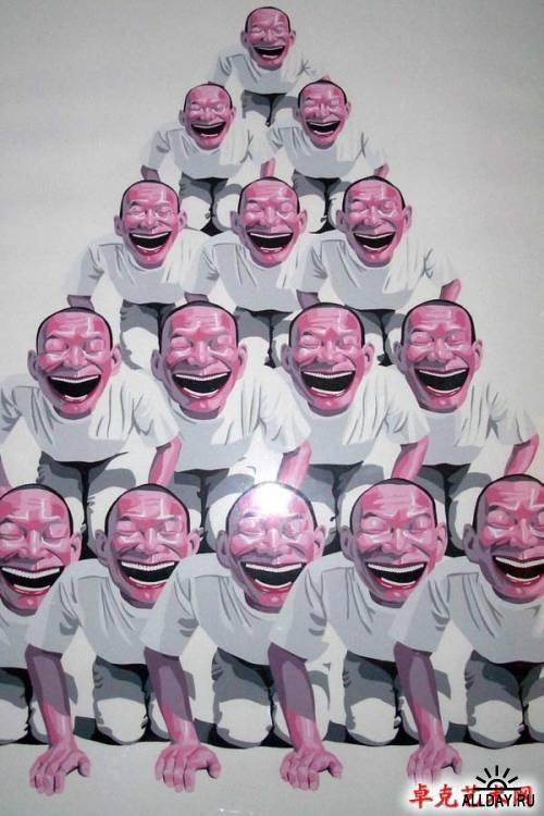 Китайские смайлики Yue Minjun