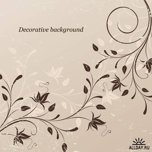 Background with decoration - Stock Vectors | Фоны с декоративными элементами