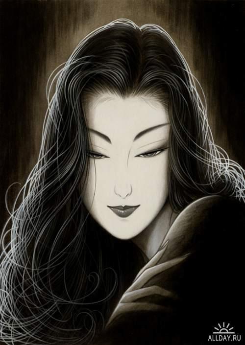 Японский художник Ichiro Tsuruta