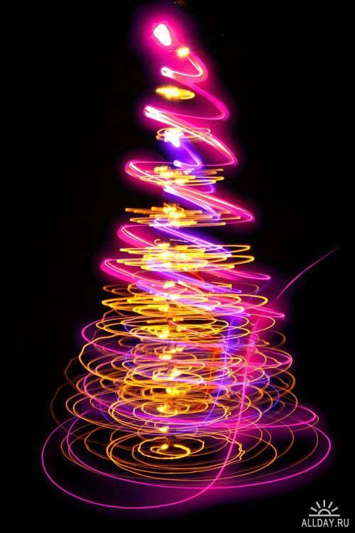 Abstract Christmas tree. Set.14 | Абстрактная новогодняя елка. Вып.14
