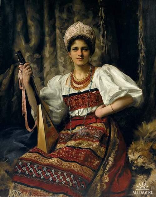 Английский художник Thomas Benjamin Kennington (1856-1916)