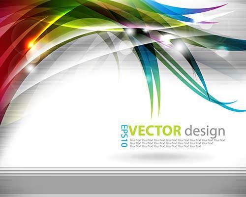 Цветные абстрактные фоны в векторе