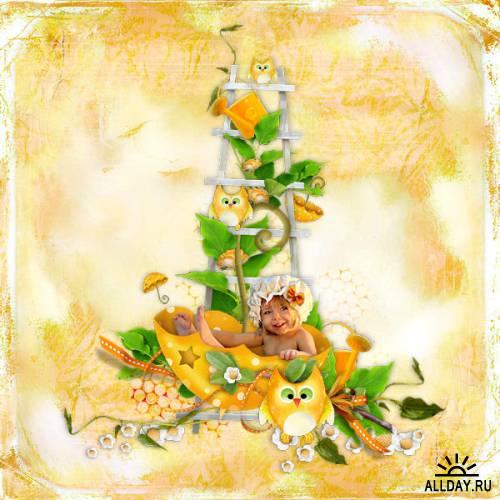 Скрап-набор Songs of Orange