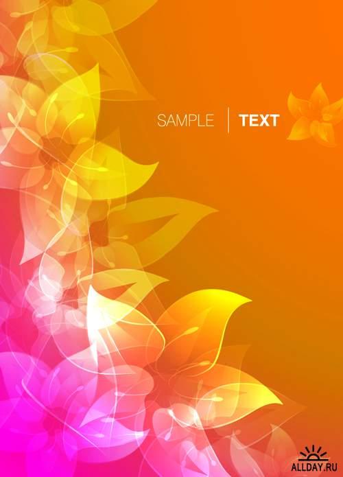 Цветочные натюрморты - Векторный клипарт | Flowers Still-lifes - Stock Vectors