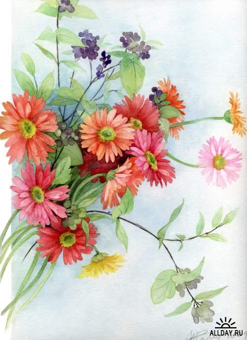 Акварельные работы Anne Marie Patry-Belluteau