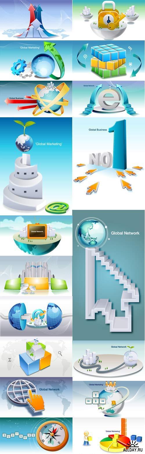 Stock Vectors - Global Business