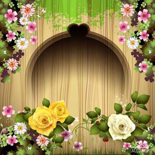 Фон с цветами 9 | Background with flowers 9