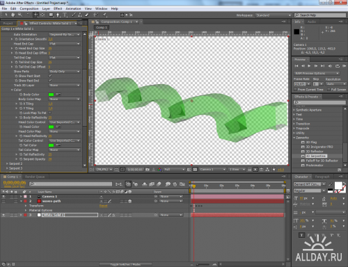 Zaxwerks 3D Serpentine 2.0.1 for After Effects (2011/ENG/x86/x64)