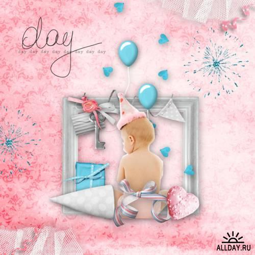Мини скрап-набор День Рождения | Birthday