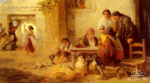 Картины западных художников маслом. Часть 75
