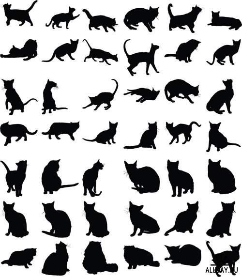 Different animals graphics 2   Разные животные и птицы 2 - Набор графических элементов дизайна для коллажей