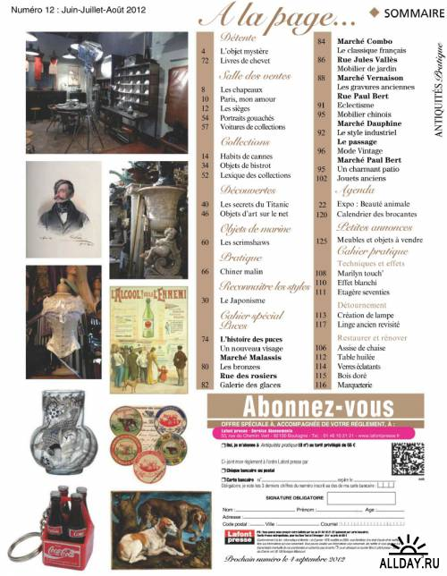 Antiquites Pratique Juin - Aout 2012